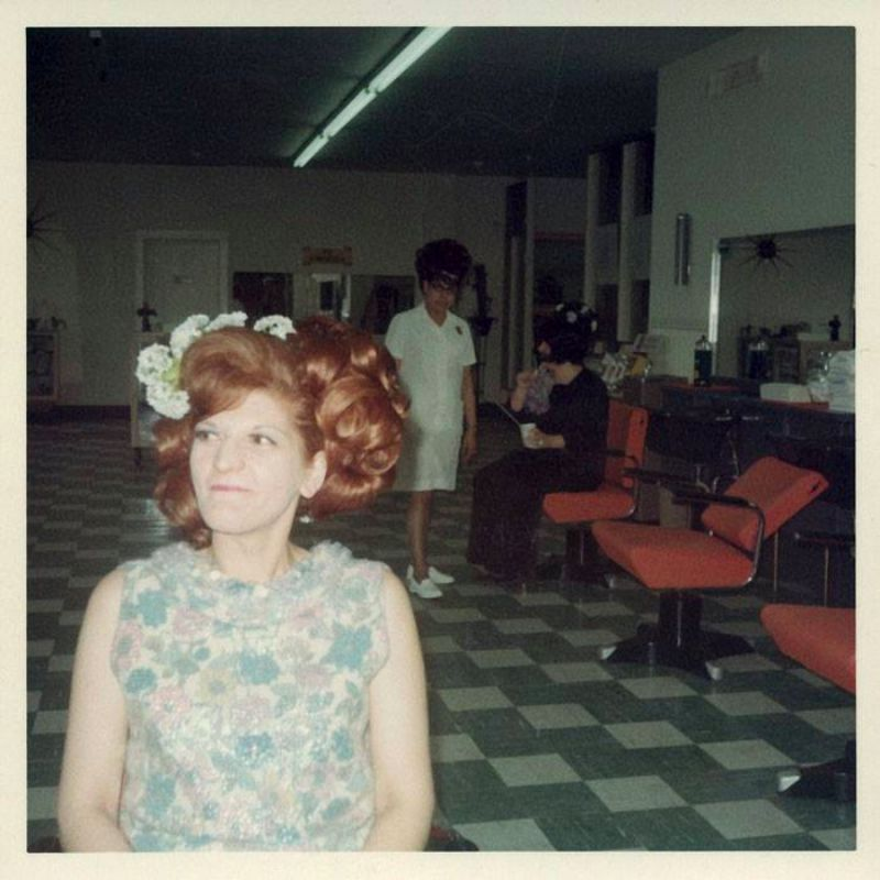 Inside A Women 's Hair Salon From The 1960s