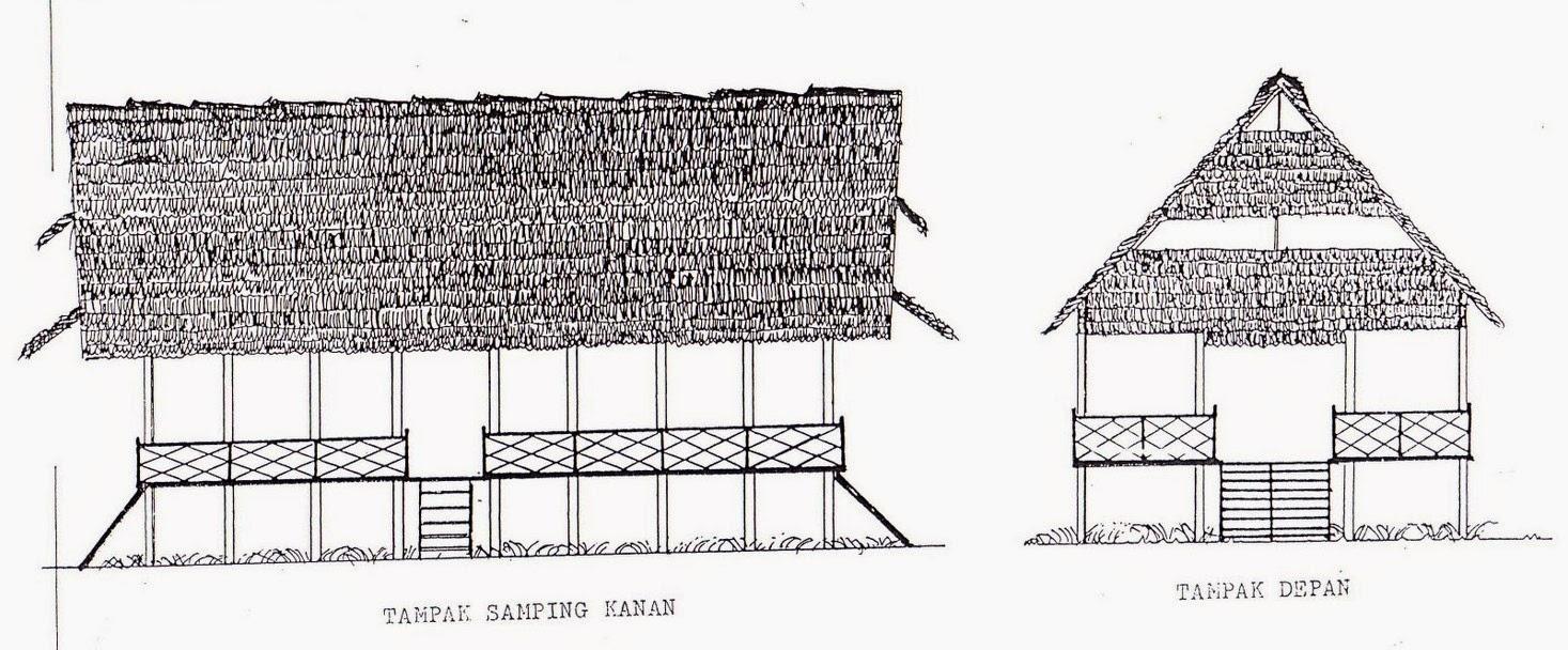Gambar Kartun Rumah Adat Jawa Timur