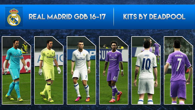 PES 2013 Real Madrid New Kit Season 2016/17