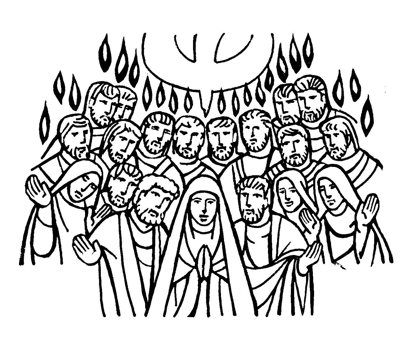 SGBlogosfera. Amigos de Jesús: PENTECOSTÉS PARA COLOREAR