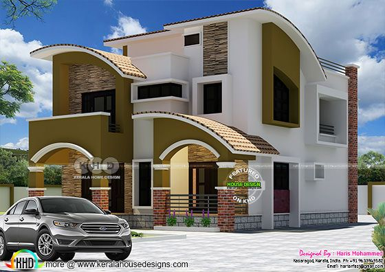 2233 sq-ft 5 BHK modern house plan