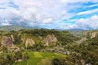 Ngarai Sianok di kota Bukittinggi, Sumatera Barat Indonesia