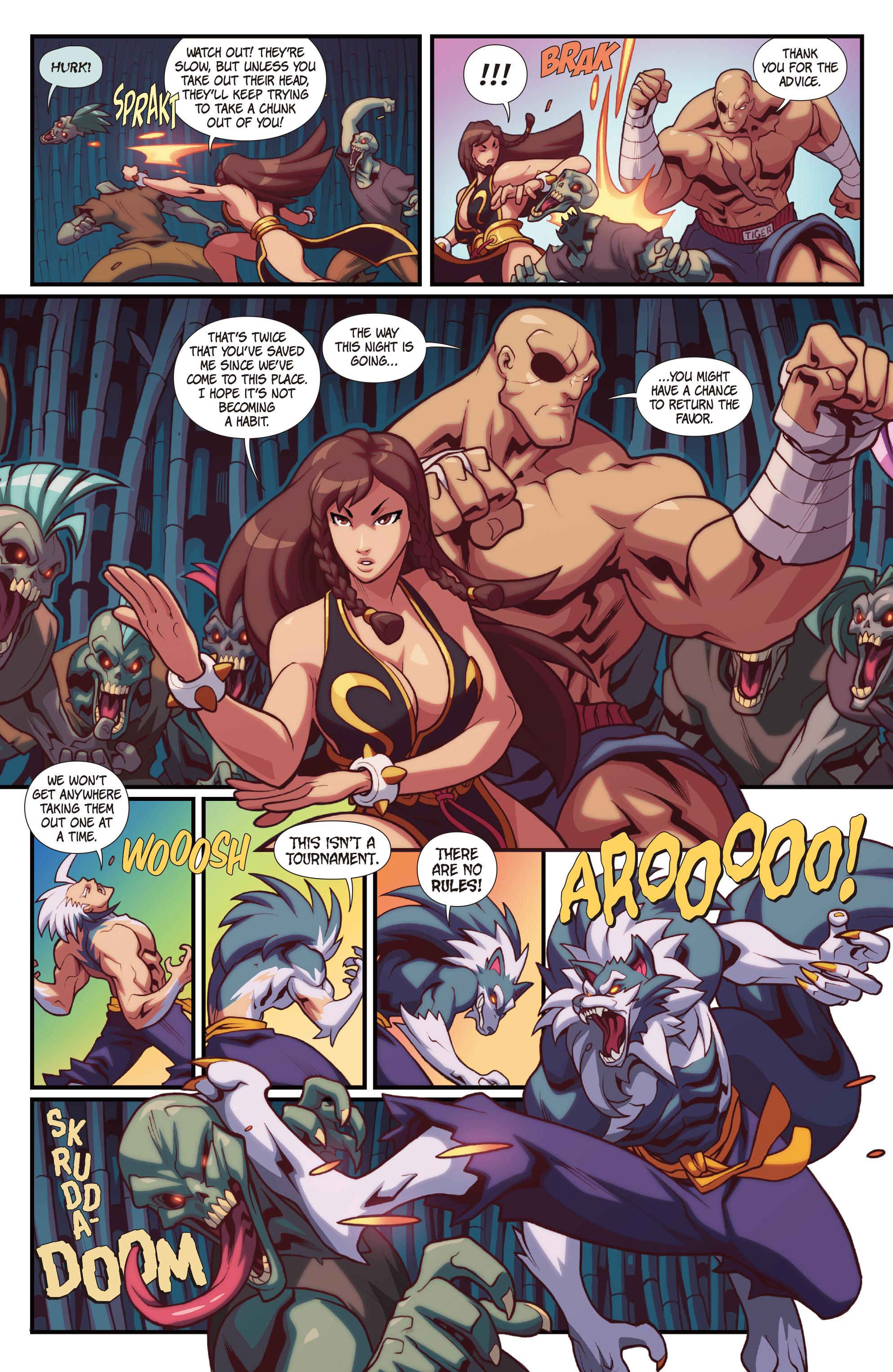 Read online Street Fighter VS Darkstalkers comic -  Issue #2 - 12