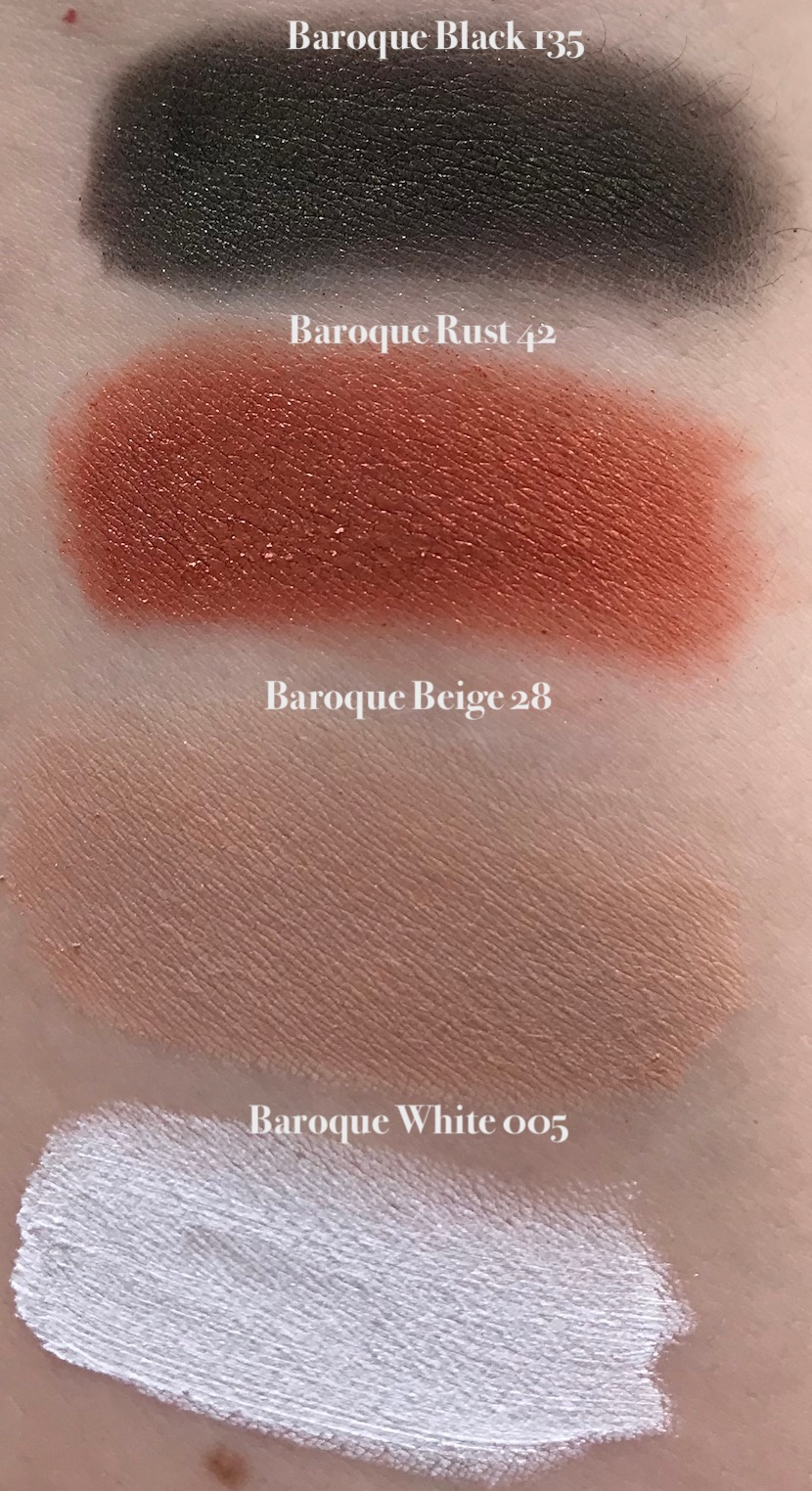 Swatches: Dolce & Gabbana Beauty Eyeshadows