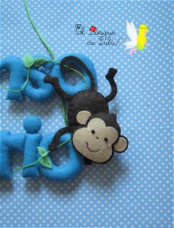 nombre-fieltro-decoración-infantil-Alonso-Mario-elbosquedelulu-hechoamanoparati-felt-name-banner-feltro