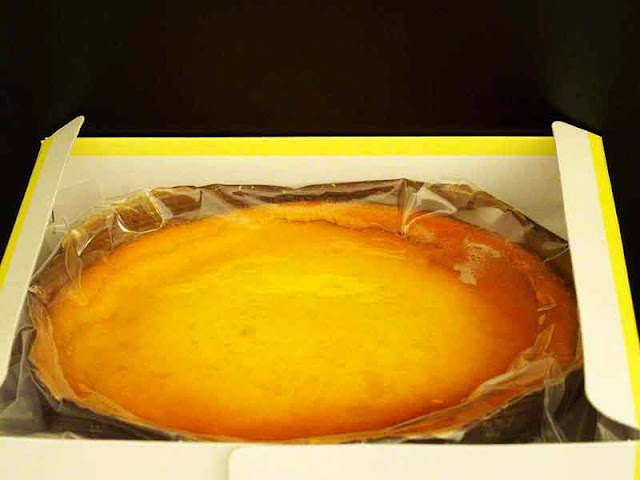 cheesecake in opened box