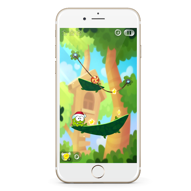 """This week's Free App of the Week goes to """"Cut the Rope 2"""". Cut the Rope is a highly anticipated puzzle game for iOS filled with endless charm and brilliantly designed physics. Feed the adorable Om Nom candy by cutting the rope and freeing them for the Om. The more you step into another level; more the level of difficulties is increased."""