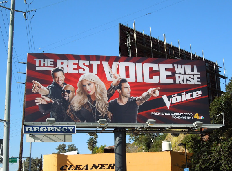 The Voice season 2 NBC billboard