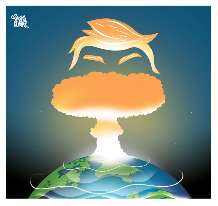 15+ Cartoonists Around The World Illustrate How They Feel About Trump Becoming President - How The World Sees The Election Outcome @sajithkumarhttps://twitter.com/sajithkumar