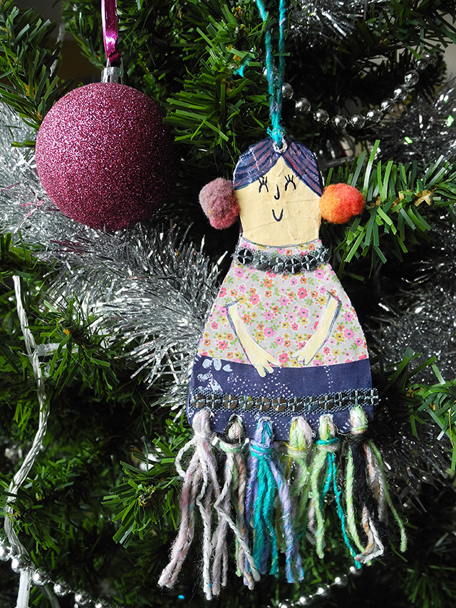 Jules Madden Diy Christmas Craft Paper Mache Lady Ornament