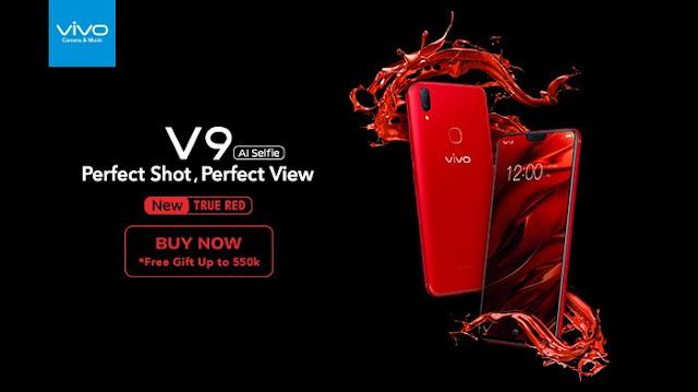Vivo V9 Varian Warna Red Siap Diluncurkan di Indonesia