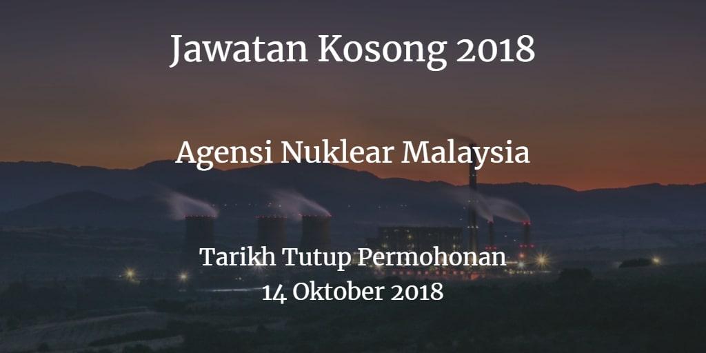 Jawatan Kosong Agensi Nuklear Malaysia 14 Oktober 2018