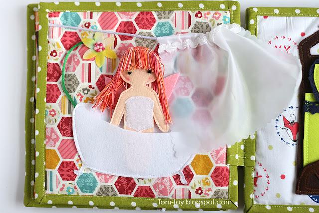 Fairy house - girls quiet busy book. Развивающия книжка для девочки Домик феи.