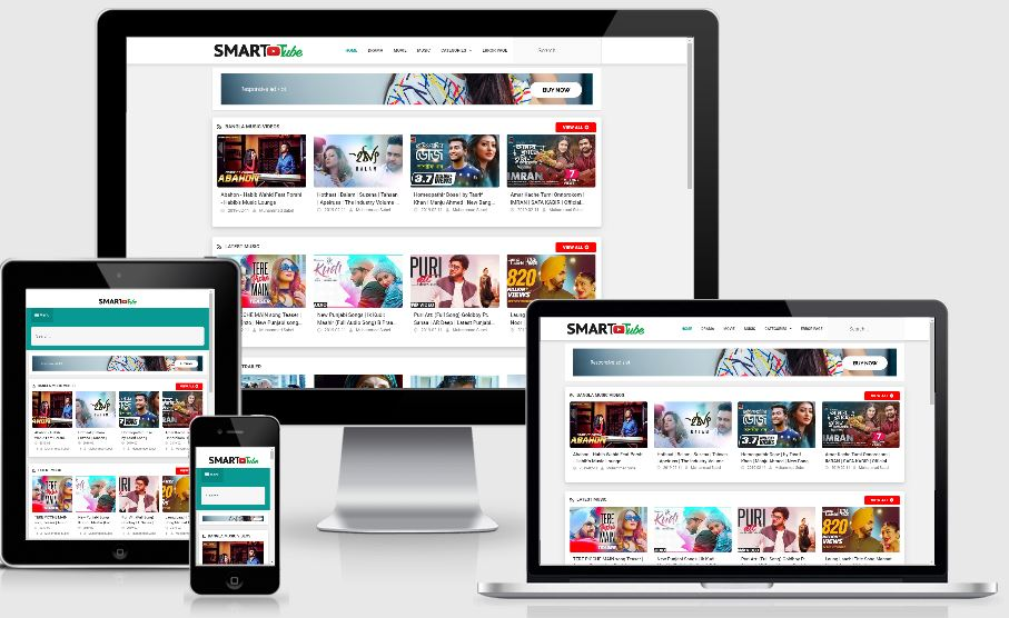 Smart Tube Video Blogger Template