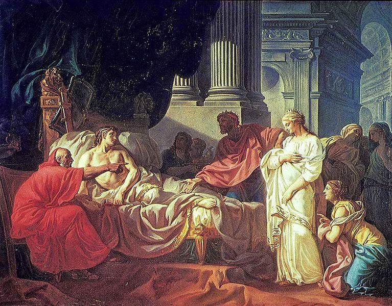 Antíoco e Estratônica - David, Jacques-Louis e suas principais pinturas ~ Representante do neoclassicismo