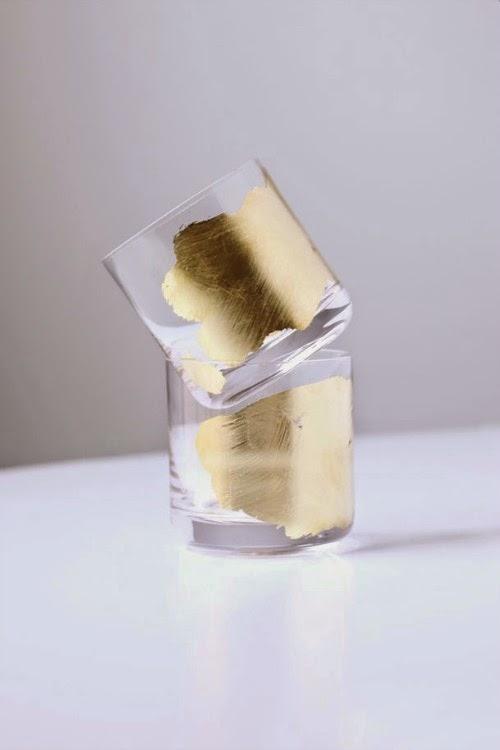 gold tumbler glasses