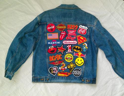Sticker Denim Jacket Diy Little Adventure
