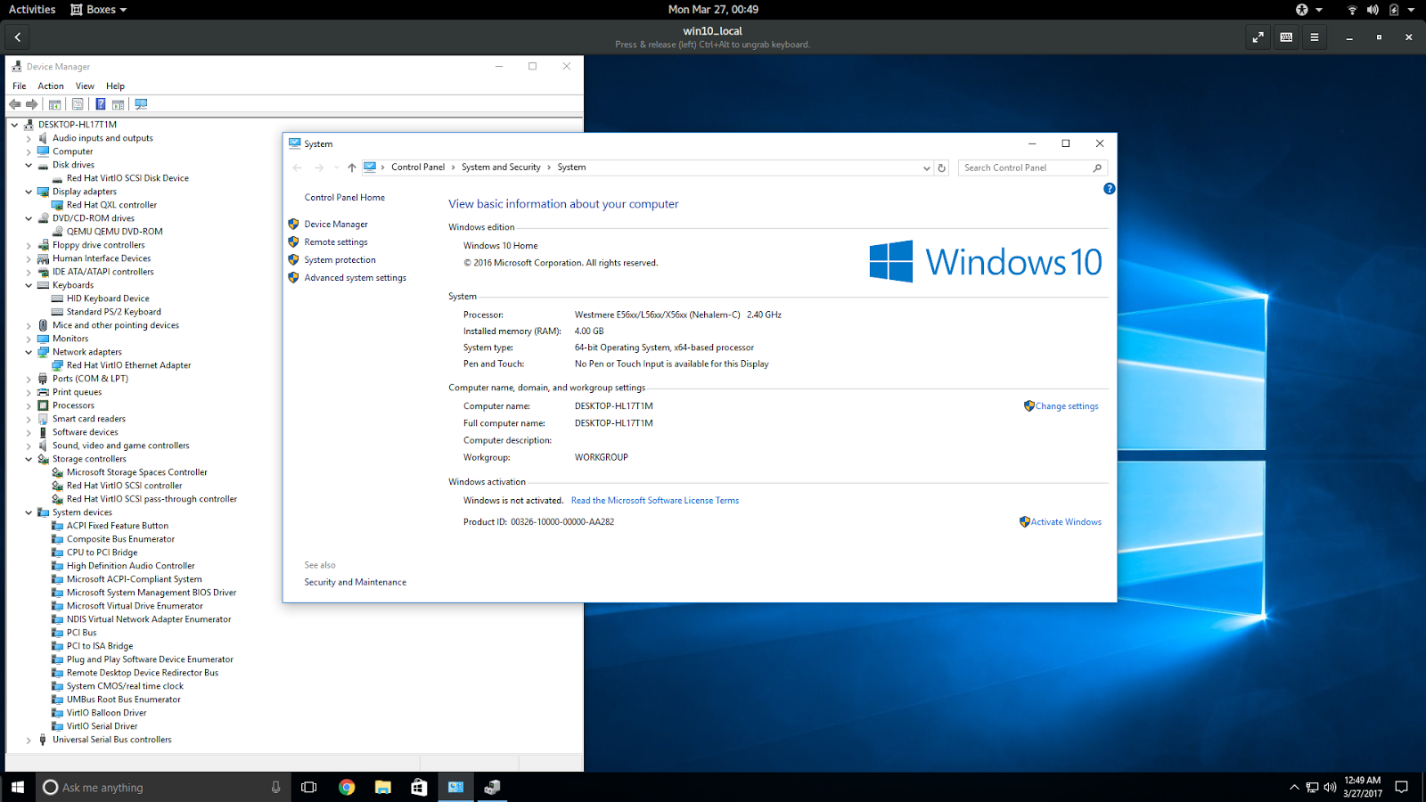 Running Windows 10 on Ubuntu with support for 2D accelerated video