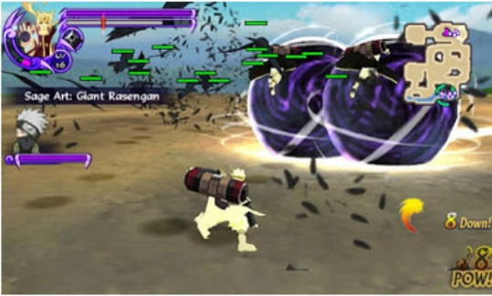 Download New Games Naruto Ultimate Ninja Impact Biju/Sage Mode ISO Mod Texture For PPSSPP