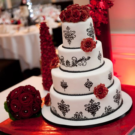 wedding cake ideas red and black torty weselne kasia koniakowska 22932