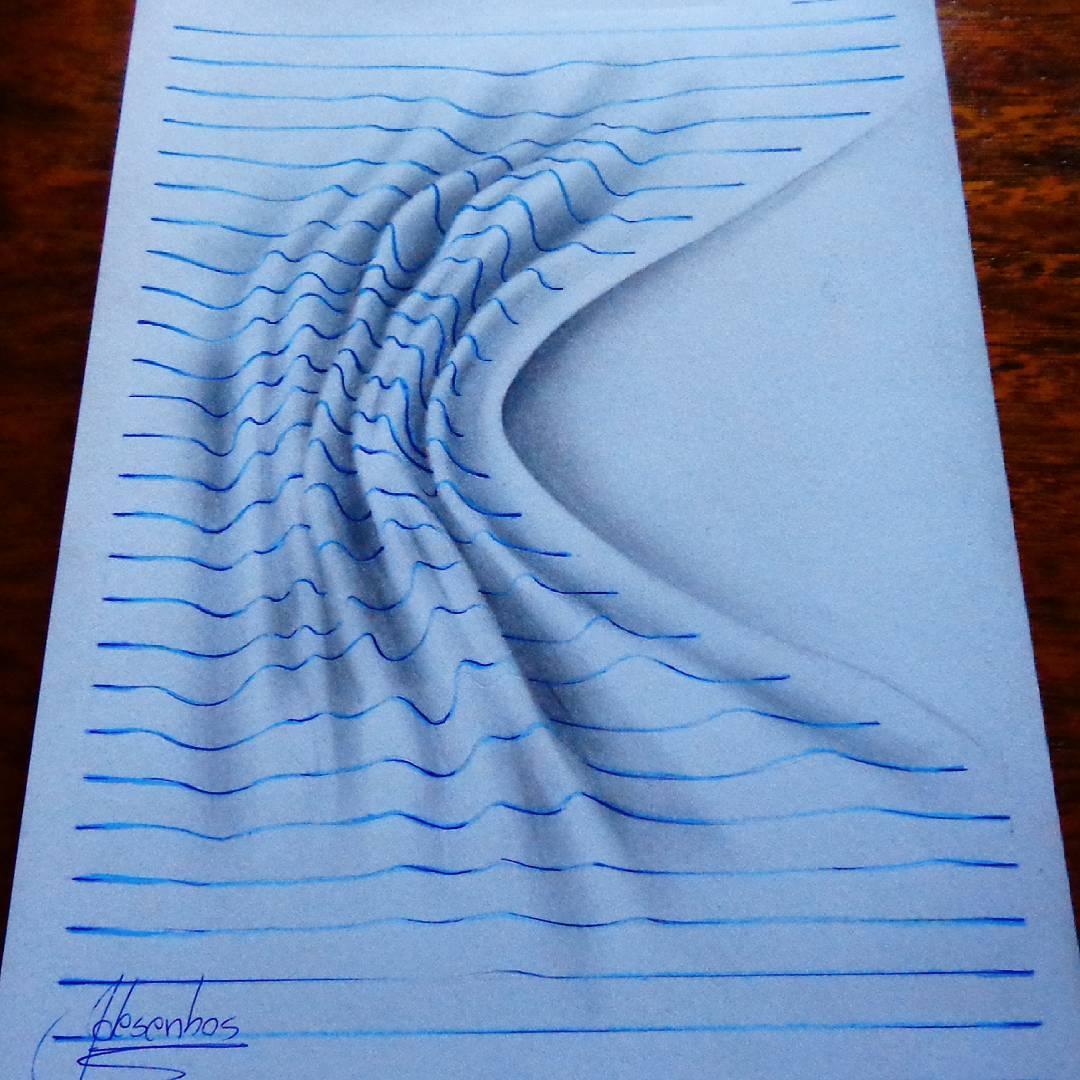 Ilustrasi 3D dengan Background garis yang menakjubkan