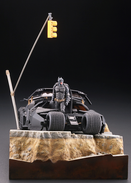 Kaiyodo Legacy Of Revoltech LR-054 The Batmobile Tumbler in Gotham City Preview Pics
