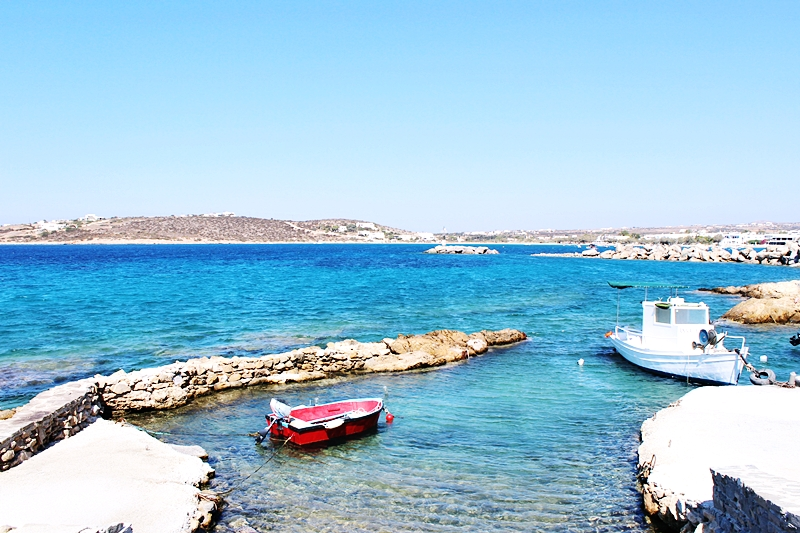 Aliki beach and Piso Aliki beach photos, Paros island tour