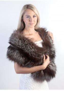 Silver fox fur stoles