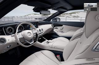 Nội thất Mercedes S500 Cabriolet 2019 màu Vàng Porcelain/Xanh Deep Sea 975