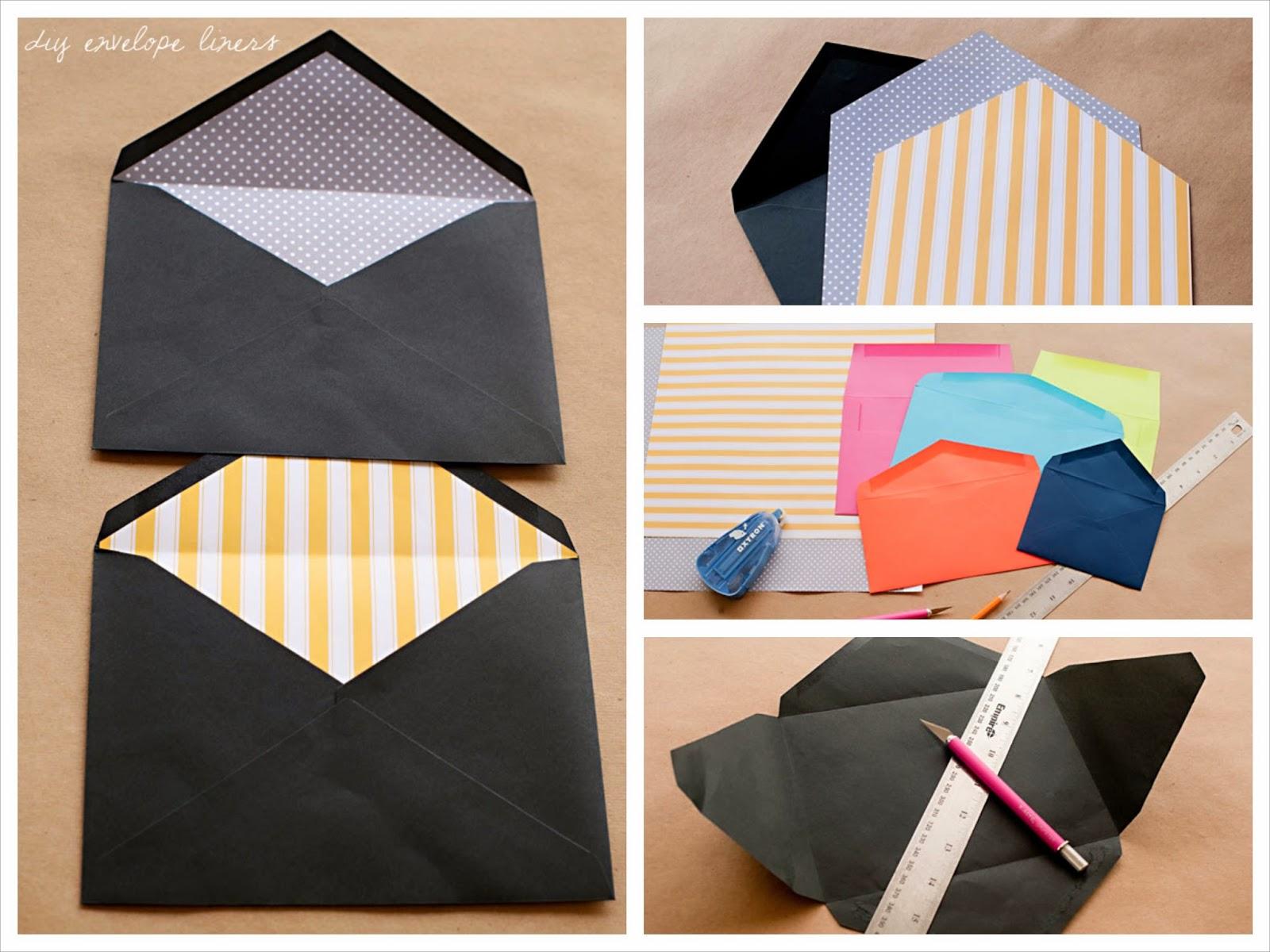 Cómo decorar la solapa de los sobres con papel decorados paso a paso