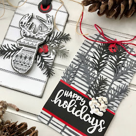 Beautiful Tags by October Guest Designer Bobbi Lemanski   Stamps and dies by Newton's Nook Designs #newtonsnook #handmade
