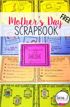 Free mother's day scrapbook for young students to create for their mother's. Includes prompts and places to add pictures.