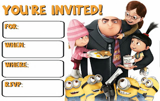 Despicable Me 3 Party printables