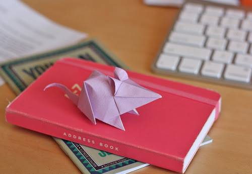 little origami mouse how about orange