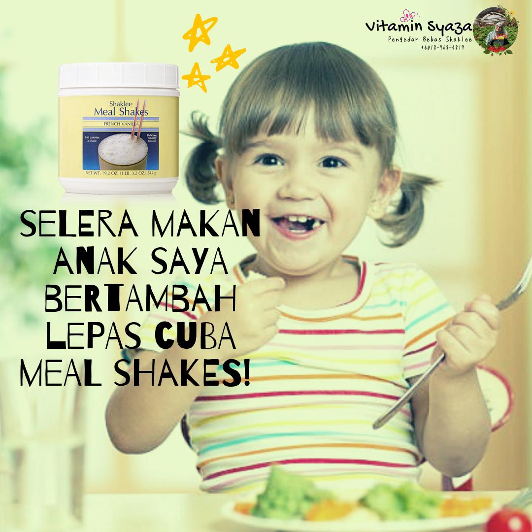testimoni Meal Shakes shaklee Tingkatkan Selera Makan Anak