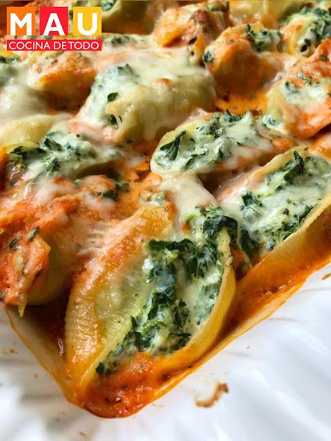 pasta rellena con salsa mamma rosa rapido facil lasaña comida italiana