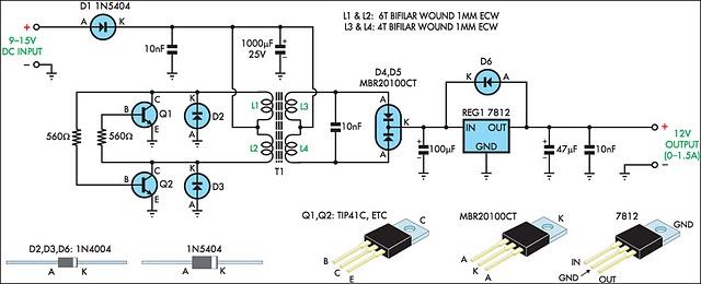 12vdc to 24vdc Converter Circuit.