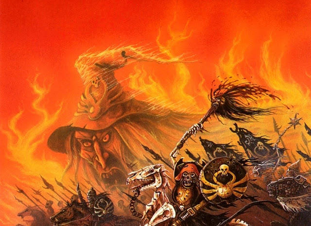 John Blanche painting of Revenge of the Lichemaster (detail) 1986