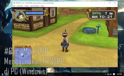 Cara main game PSP menggunakan PPSSPP di PC komputer