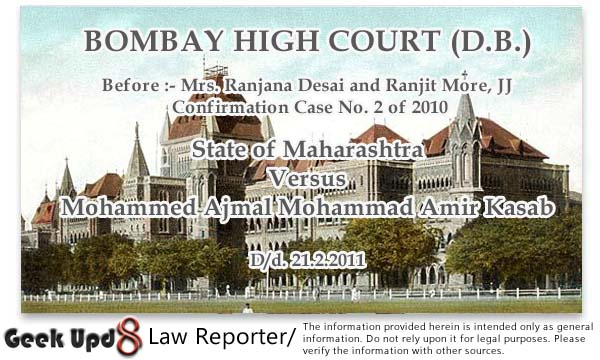 Ajmal Kasab (Mumbai 26/11 Attacker) Case Judgement