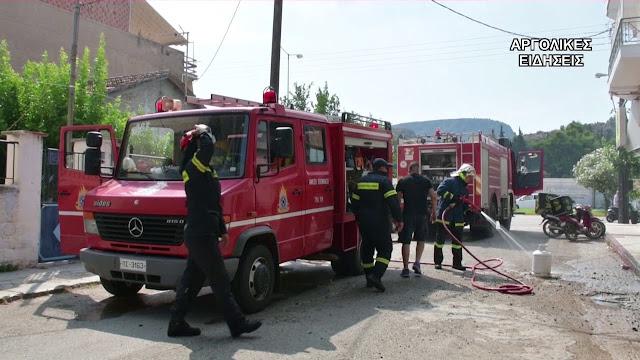 Αργολίδα:Πυρκαγιά σε κατάστημα γεωργικών μηχανημάτων στην Αρχαία Επίδαυρο