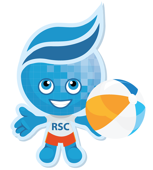 Rio mascot Splash with beach ball