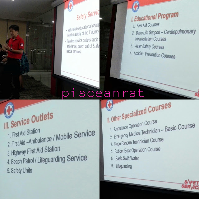 Mr. Benjo Bacani, national field representative from PRC Safety Department, discussing Safety Services.