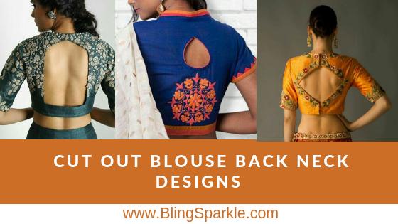 c6ce67c93aa1e 31 Trendy Cut Out Blouse Back Neck Designs for Sarees