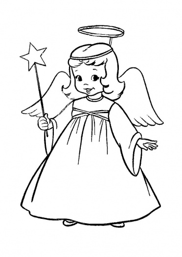 Angel coloring pages for Angeli da stampare e colorare
