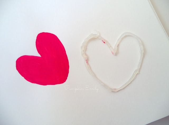 DIY Glue Heart Stencil