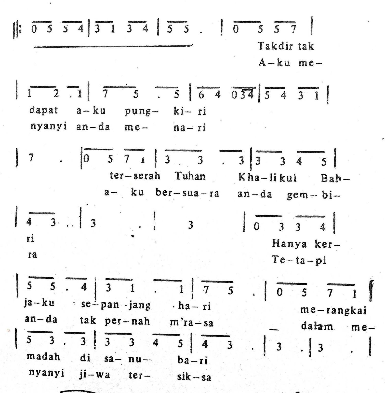 Chord & Arti Lirik Lagu Jakarta: Ronggeng + Not Angka