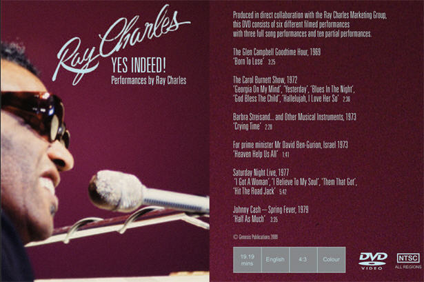 Ray Charles Video Museum: The Ray Charles - Yes Indeed DVD