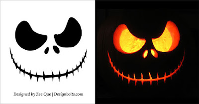 Scary Halloween Pumpkin Designs Templates