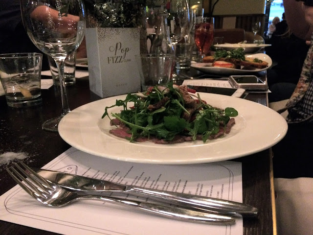 Beef Carpaccio Salad at Gusto, Leeds